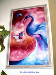 Ave do Paraiso - Óleo sobre tela 60x100 cm