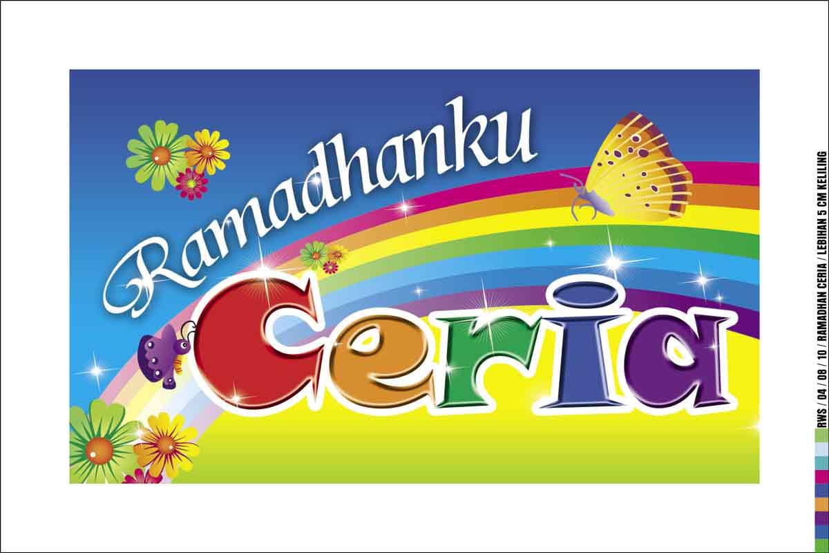 ... Produksi Digital Printing Berupa Spanduk Dengan Tema Ramadhanku Ceria