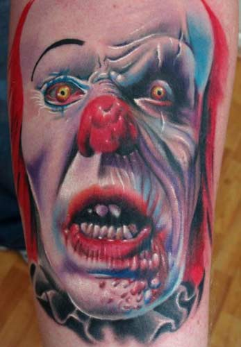 clown tattoo designs. with this type of design,