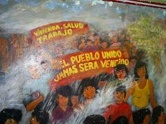 MURAL BARRIO POPULAR, LIMA PERU