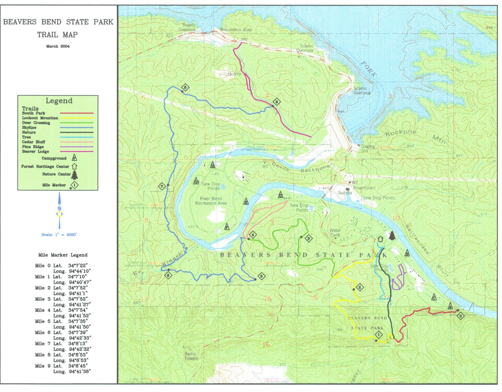 Beavers Bend State Park Map Images Frompo 1