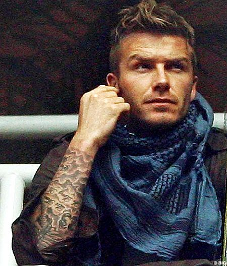 "David Beckham ""Vihctoria"" tattoo. David, how many more tattoos?"