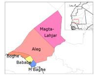 خريطة ولاية لبراكنة