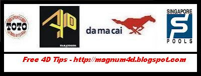 MAGNUM 4D | DA MA CAI | SPORTS TOTO | SINGAPORE POOLS: 4D Tips for ...