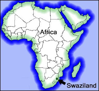 Following Him To Swaziland Swaziland Map - Swaziland map