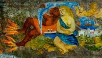 Edina Altara, Motonave Oceania, dettaglio pannello Sala da Pranzo
