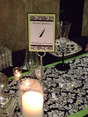 Darling Damask designed my runner for the Perfect Wedding Guide Bridal Show