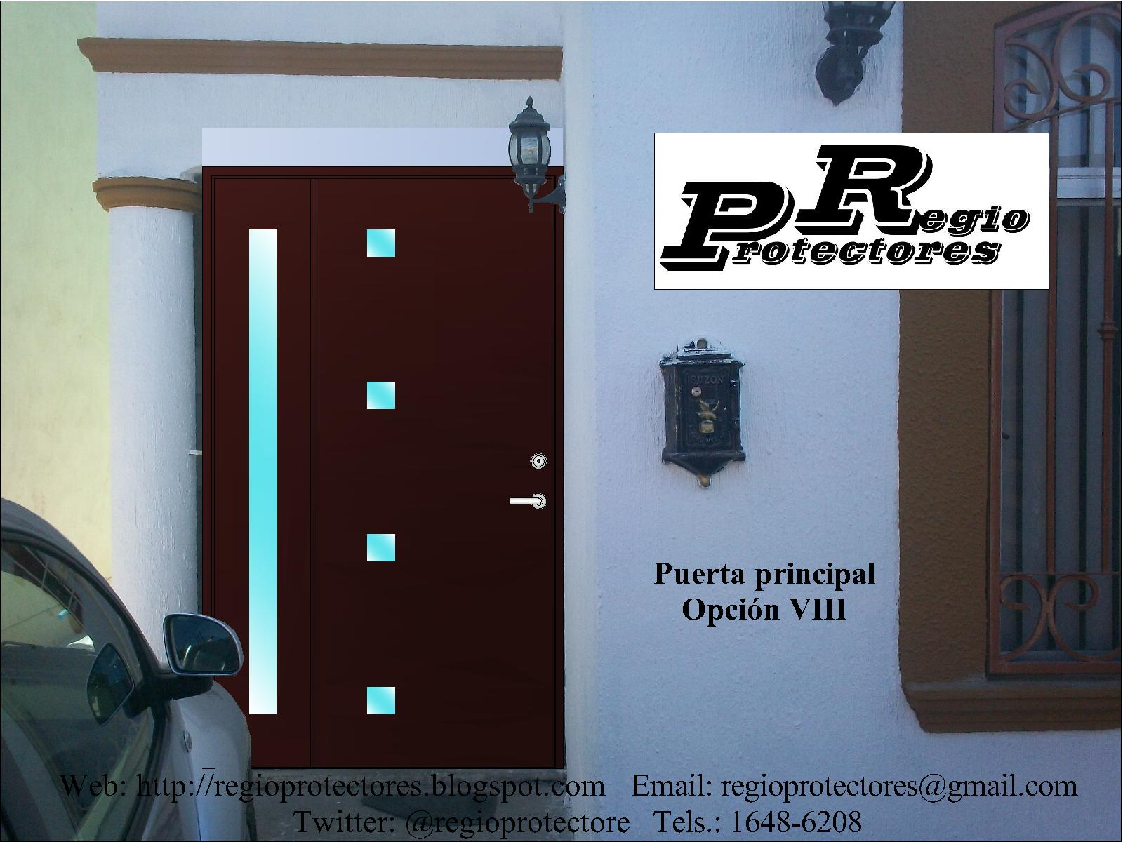 Regio protectores regio protectores dise o de puerta for Diseno puerta principal