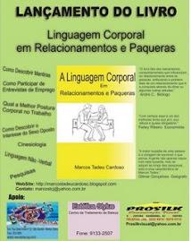 Cartaz do lançamento do livro