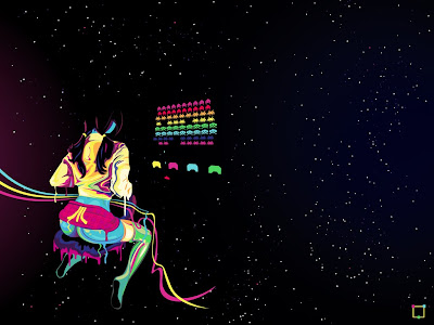 Atari Space Invaders Sexy Wallpaper