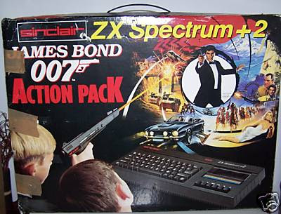 James Bond 007 ZX Spectrum +2 box