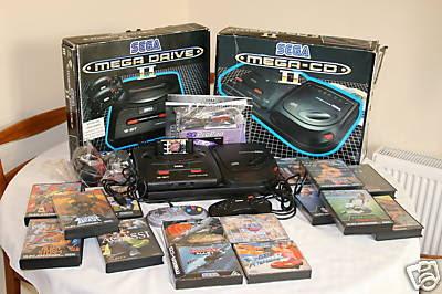 boxed Sega MegaDrive II Mega CD 2