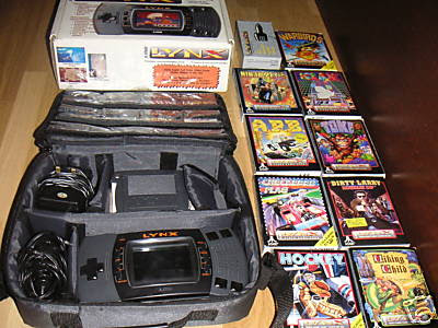Atari Lynx 2 II boxed carry case games