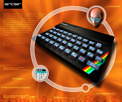 Spectrum Clive Sinclair wallpaper desktop