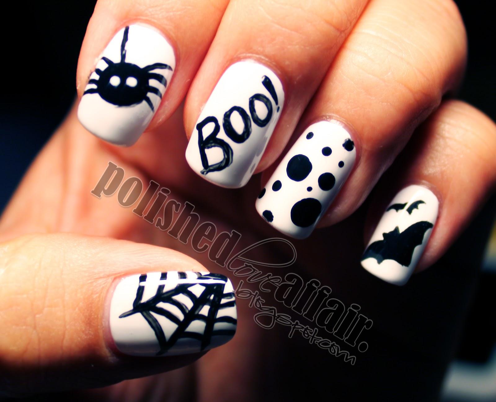 polished love affair halloween nails