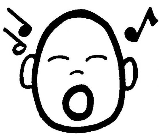 Cantar dibujo - Imagui