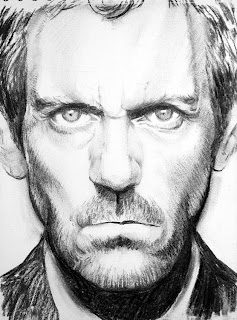 retrato del doctor house carboncillo house md portrait charcoal