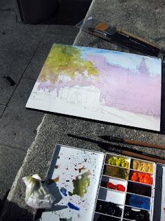paleta para pintar a la acuarela