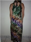 Vestido tie-dye tropical - costas