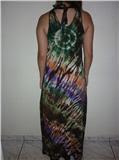 Vestido tie-dye tropical - costas