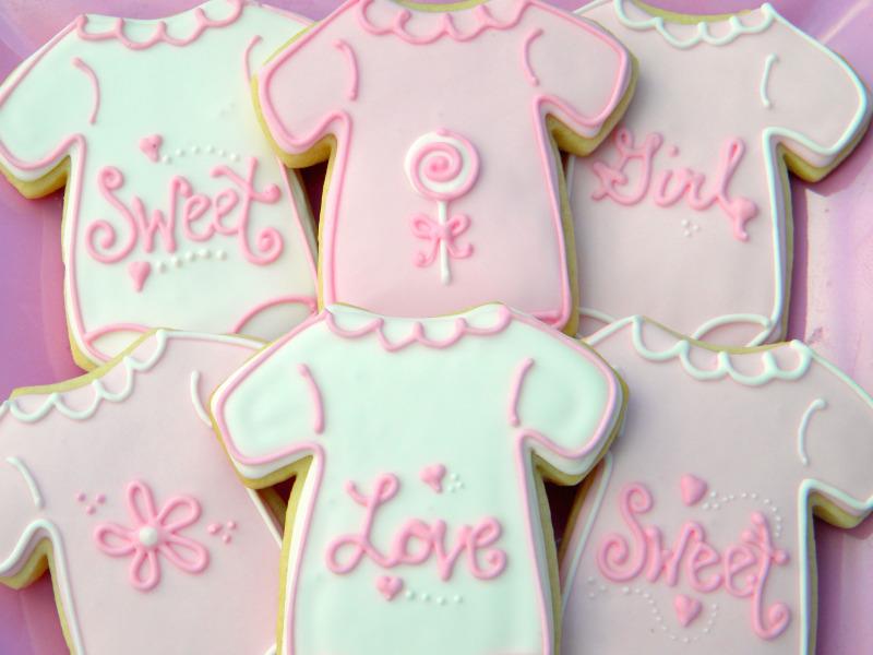 occasional cookies baby girl onesie sugar cookies