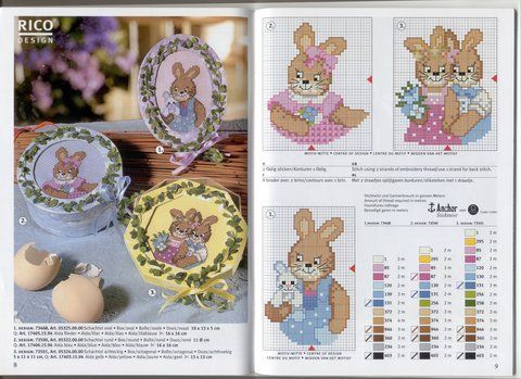 counted cross stitch for easter
