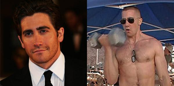 Jake Gyllenhaal gained 25lbs of muscle for Jarhead