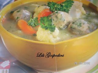 Articole culinare : Supa de conopida cu perișoare........