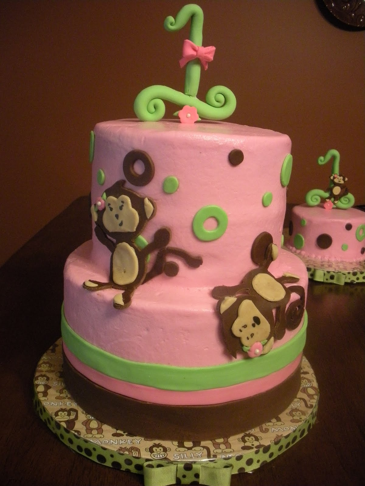 silly little monkey cake