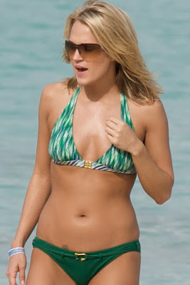 Carrie Underwood in a Green Bikini pictures