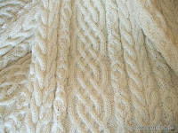 Celtic Aran Afghan Hand Knit Pattern