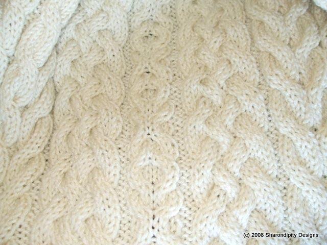 Free Knitting Pattern Wedding Afghan : Sharondipity Designs: Irish Wedding Aran Afghan Pattern