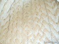 irish wedding aran afghan knit pattern