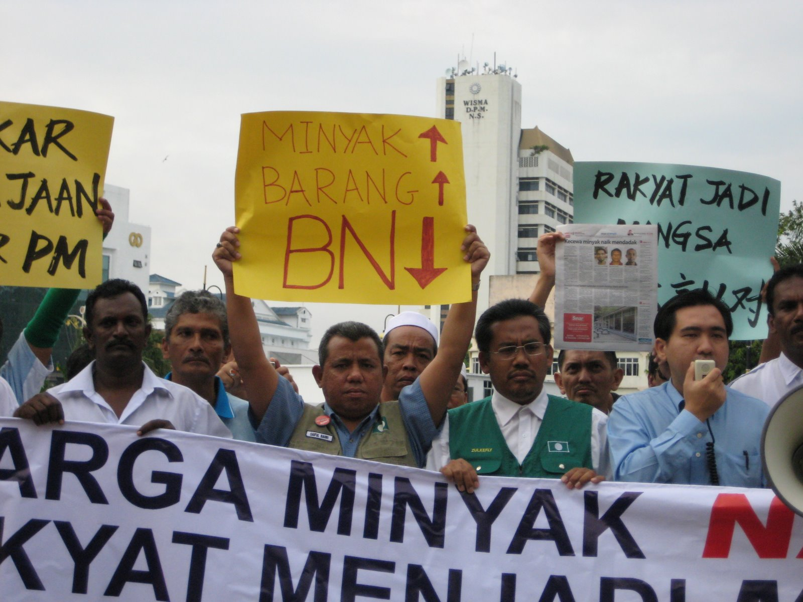 Demo Aman PROTES Minyak 6 Jun 2008