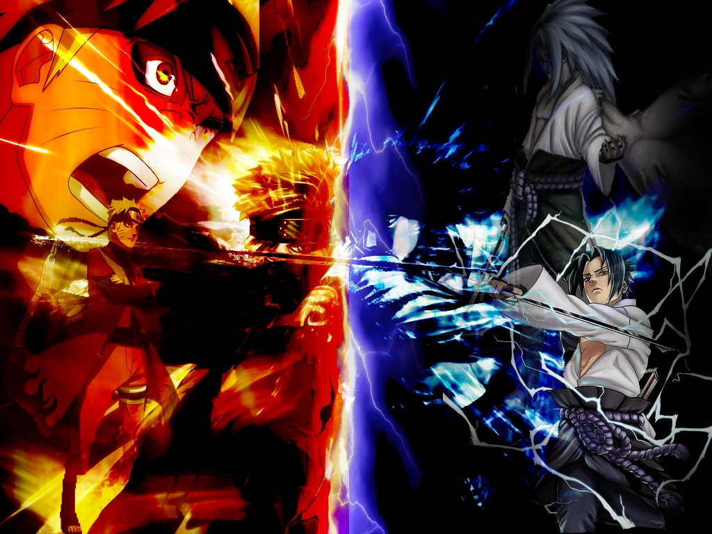 Naruto vs Sasuke Wallpapers