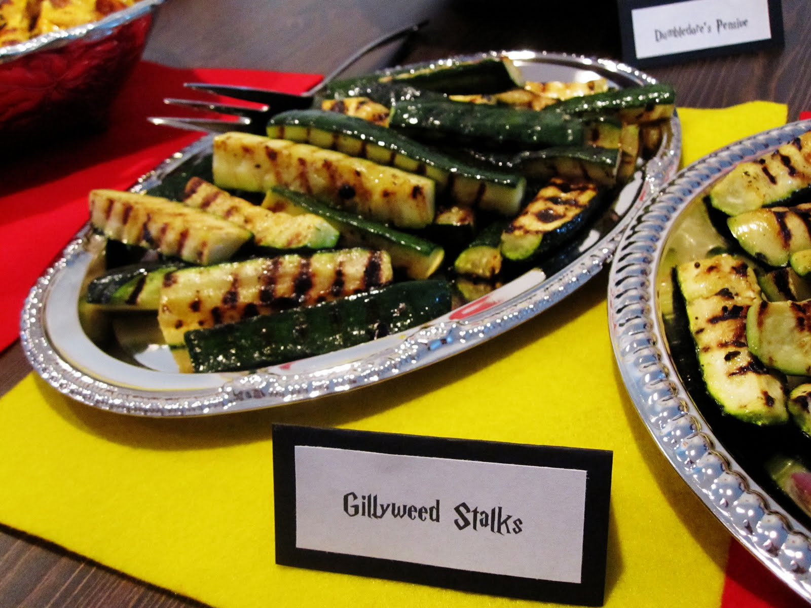 Harry potter party part ii rae gun ramblings these are grilled zucchini and although these are insanely simple they are absolutely fabulous everyone one of my friends shared this recipe and i was forumfinder Images