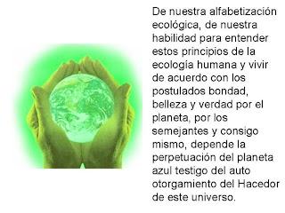 Ecologia humana alfabetizacion