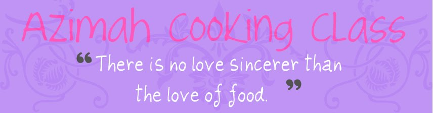 Azimah Cooking Class