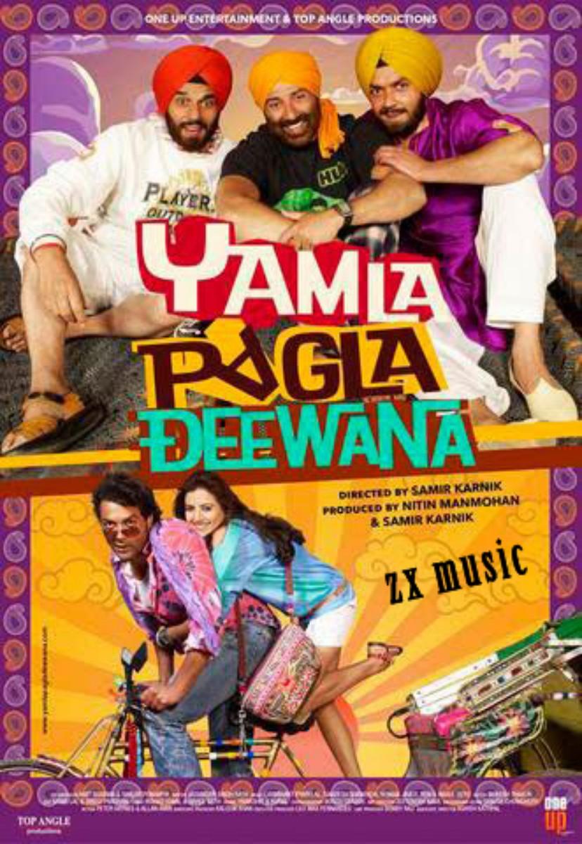 new hindi moviee  click hear 2014.................... Yamla-Pagla-Deewana+zxmusic