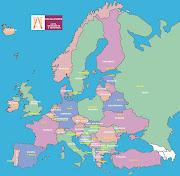 Imagen del mapa politico del continente de europa. (europa)