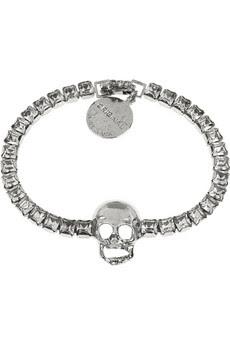 Tom Binns, Tom Binns bracelet, Tom Binns jewelry, Net-a-Porter, jewel, jewels, jewelry, bracelet, Tom Binns Tough Chic Swarovski Skull Bracelet, Swarovski, Swarovski crystal, Swarovski jewelry