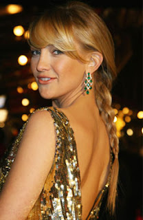 Kate Hudson, low braid, hair, braid, hair braid, Kate Hudson braid, Kate Hudson low braid