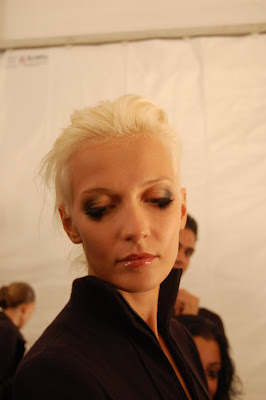 fashion week, New York Fashion Week, Mercedes-Benz Fashion Week, Chado Ralph Rucci, Chado Ralph Rucci Spring 2010, backstage beauty, MAC Cosmetics, Tom Pecheux, makeup artist, Bumble and bumble, hairstylist