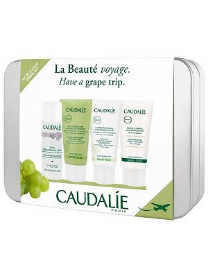 Caudalie, gift, gift set, holiday gift, holiday gifts, Caudalie Travel Kit, shampoo, lotion, moisturizer, body cream, face wash, cleanser, shower gel, body wash, hair, body, skin, skincare, skin care