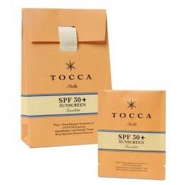Tocca, Tocca SPF30+ Towelette Viaggio, Tocca Stella, sunscreen, Tocca sunscreen