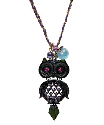 Betsey Johnson, Betsey Johnson necklace, Betsey Johnson jewelry, Betsey Johnson pendant, Betsey Johnson Large Owl Necklace, necklace, jewelry, pendant, owl necklace, owl jewelry, owl pendant
