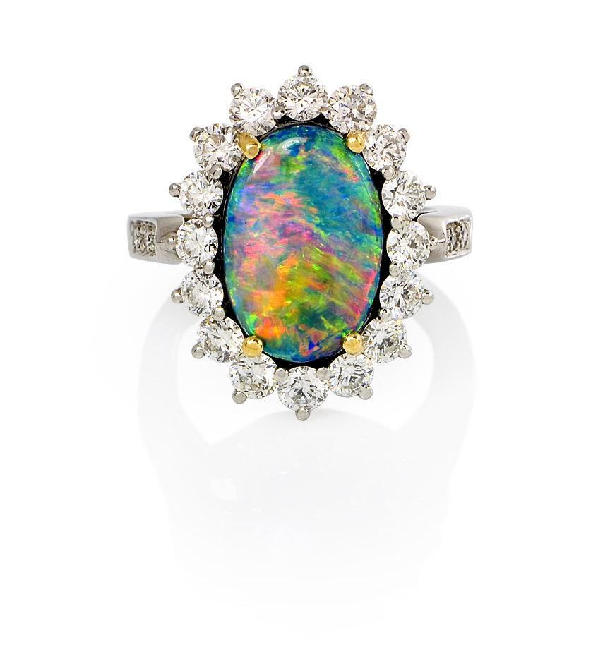 Rings Wedding Bands Collectingfinejewels: A Tiffany Black Opal Ring
