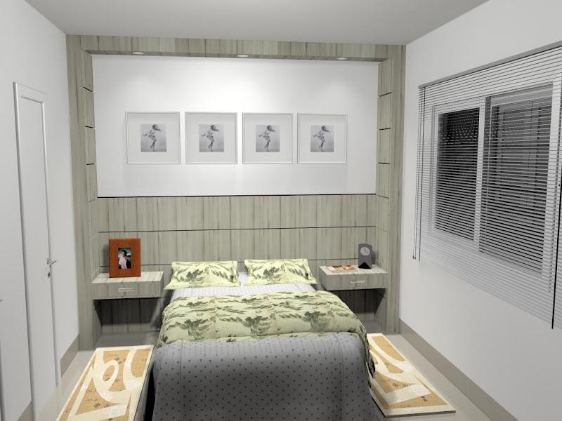 Projeto de um painel para cama de casal. Usou-se um painel frisos  title=