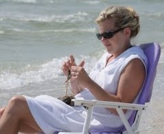 Knitting at the Beach