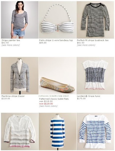 navy stripes at J. Crew